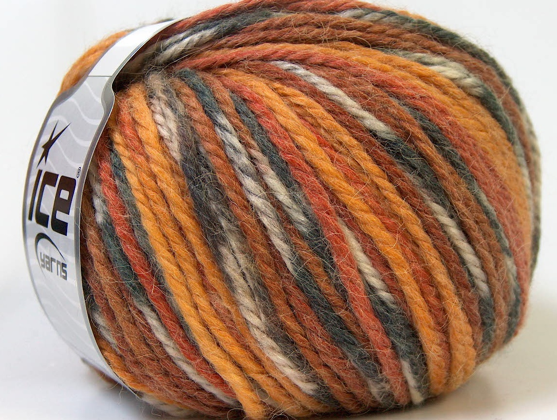 Alpaca Bulky Magic White Grey Gold Brown at Yarn Paradise