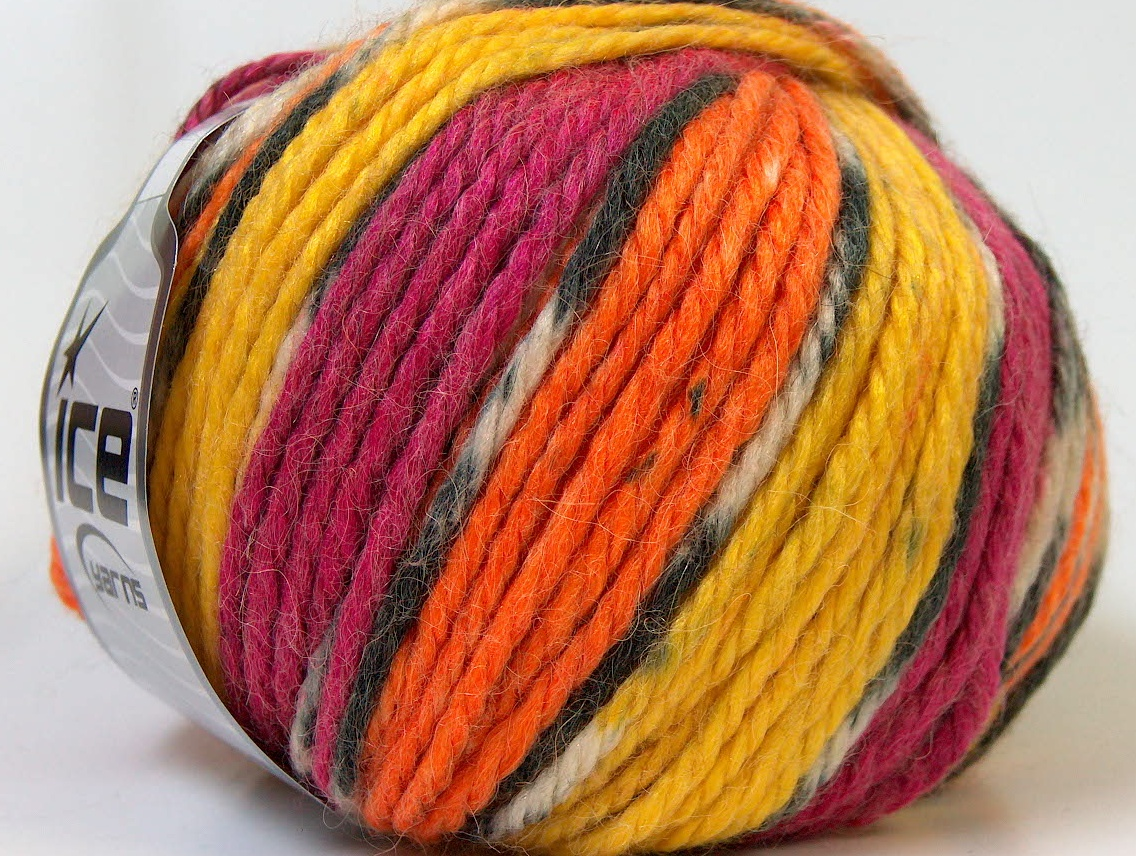 Alpaca Bulky Magic Yellow Orange Fuchsia At Ice Yarns