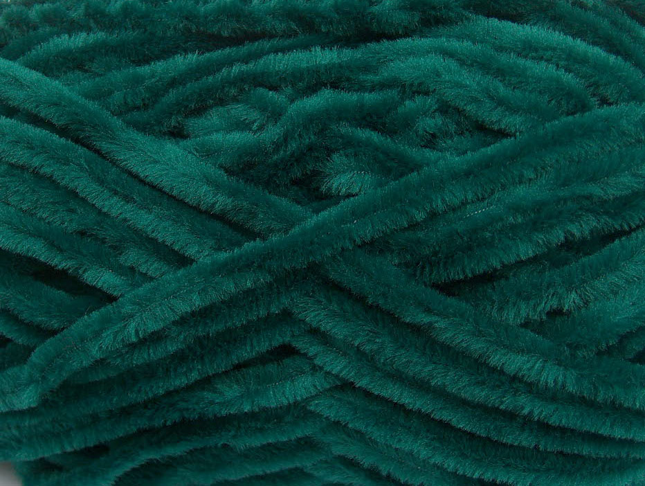 Velvet Chenille Dark Green At Yarn Paradise