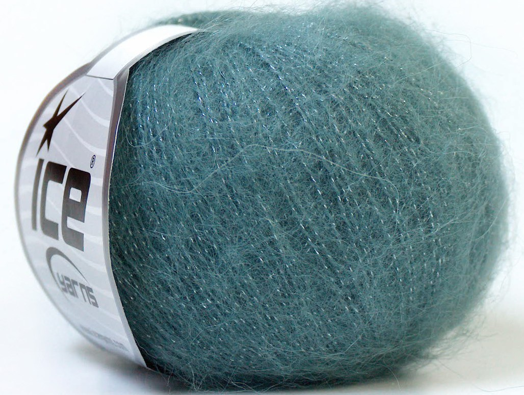 Mohair Yarn : Kid Mohair Glitz Dark Grey at Yarn Paradise