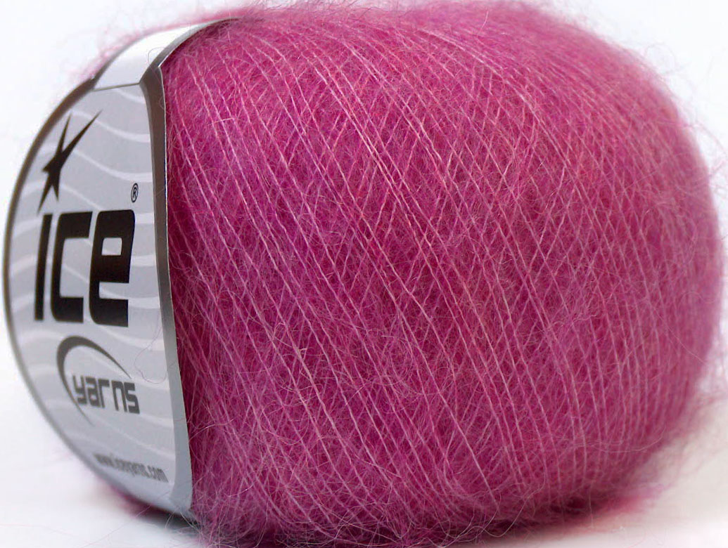 Mohair Yarn : Kid Mohair Fuchsia, Fall - Winter Yarns Yarn Paradise