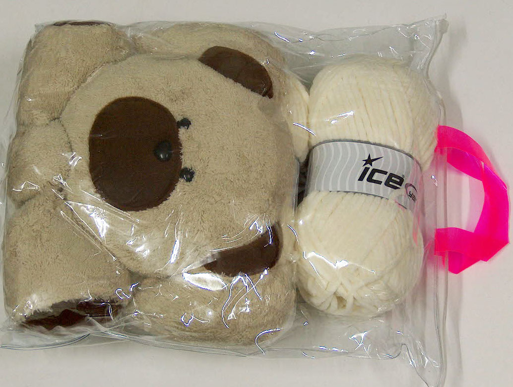 Animal Pillow Cream with Teddy at Yarn Paradise