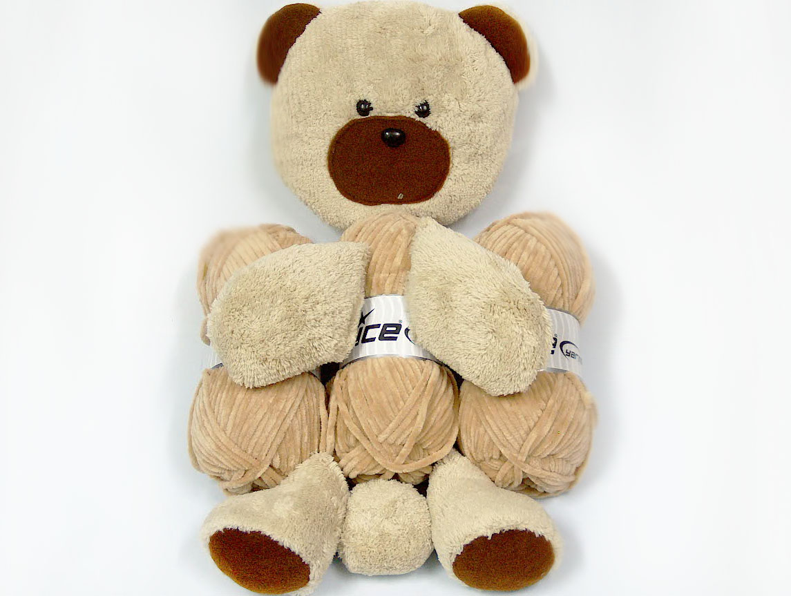 Animal Pillow Beige with Teddy at Ice Yarns Online Yarn Store