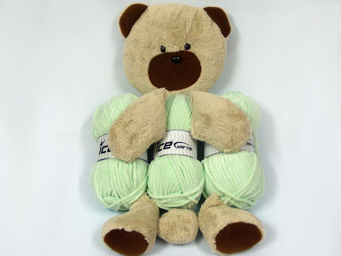 Animal Teddy Pillow : Animal Pillow Baby Green with Teddy at Yarn Paradise