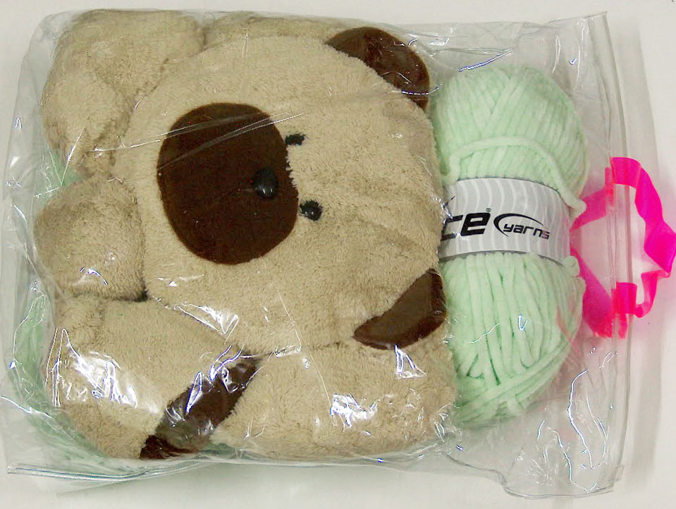 Animal Pillow Baby Green with Teddy at Ice Yarns Online Yarn Store