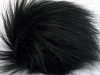 Black 2 Faux Fur PomPoms
