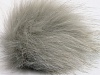 Light Grey 2 Faux Fur PomPoms