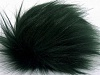 Dark Green 2 Faux Fur PomPoms