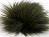 Dark Khaki 2 Faux Fur PomPoms