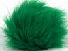 Green 2 Faux Fur PomPoms