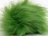 Light Green 2 Faux Fur PomPoms