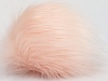 Powder Pink 2 Faux Fur PomPoms