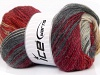 Mohair Magic Glitz Red Grey Cream Burgundy