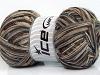 Bamboo Sock Grey Camel Brown