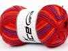Design Sock Salmon Red Purple Orange
