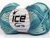 Cotton Fine Melange Turquoise