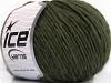Wool Cord Aran Dark Green