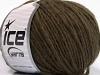 Wool Cord Aran Dark Brown