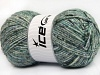Wool Melange White Turquoise Grey Shades