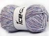 Wool Melange White Turquoise Lilac Shades