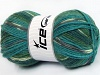 Jacquard Turquoise Grey Green Shades