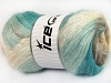 Mohair Active Turquoise Cream Camel
