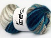 Mohair Active White Turquoise Navy Beige
