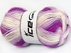Baby Wool Design White Purple Lilac