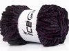 Chenille Lights Fuchsia Black