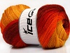 Merino Batik Yellow Red Orange Gold