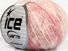 Kid Mohair Flamme White Pink Shades