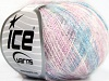 Kid Mohair Flamme White Pink Blue
