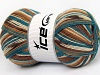 Super Sock Turquoise Pink Cream Brown Shades