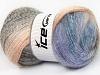Mohair Pastel Salmon Lilac Cream Blue