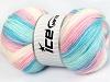 Baby Batik White Pink Shades Blue Shades