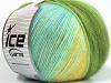 Angora Design Gul Hvit Turkis grønn