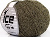 Wool Glitz Superfine Khaki Gold