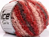 Boucle Wool Worsted rød Rosa Rødbrun