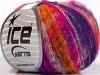 Kid Mohair Flamme Purple Gold Fuchsia