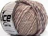 Wool Cord Aran Purple Grey Cream Copper