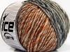 Wool Cord Aran Gråtoner gull Kobber