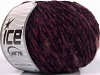 Chenille Wool Flamme Red Purple Black
