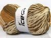 Jacquard Wool Lys brun Krem Kamel