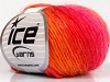 Wool Cord Light Orange Gold Fuchsia