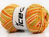 Natural Cotton Color Orange Green Cream