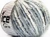 Sale Mohair-Wool Blend White Light Blue Grey