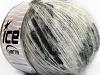 Sale Mohair-Wool Blend Hvit Svart