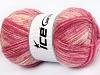 Jeans Wool Pink Shades Cream