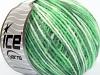 Wool Cord Light White Green Shades
