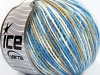 Wool Cord Light White Blue Shades Beige
